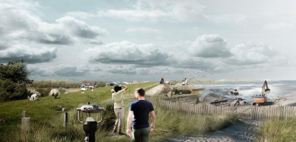 Aanleggen Prins Hendrik Zanddijk, afbeelding: Jan de Nul