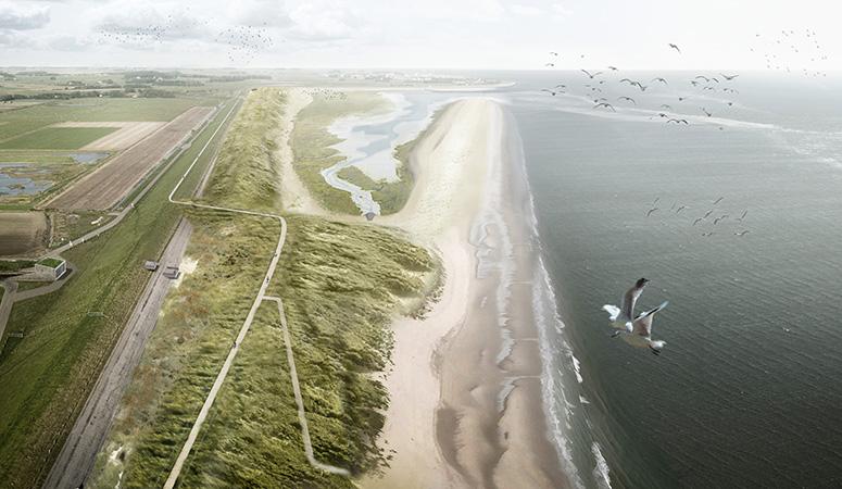 Future Prins Hendrik sand dike, image Jan de Nul